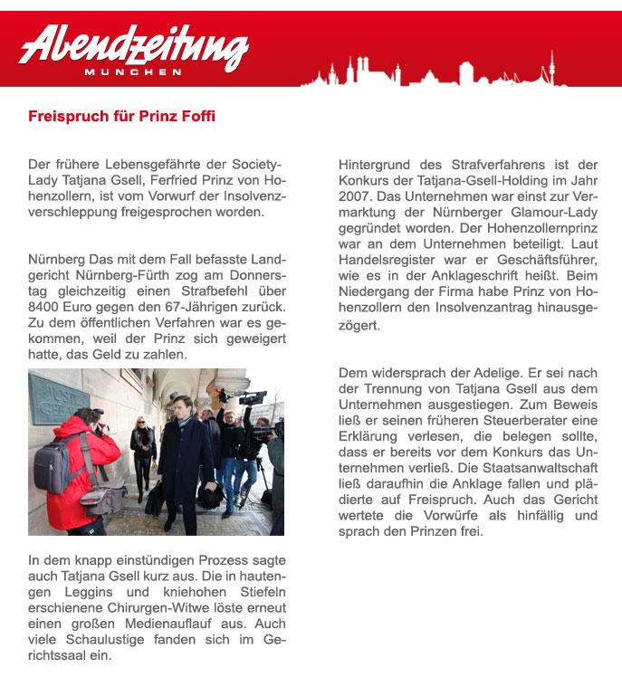 Freispruch für Prinz v. Hohenzollern 2