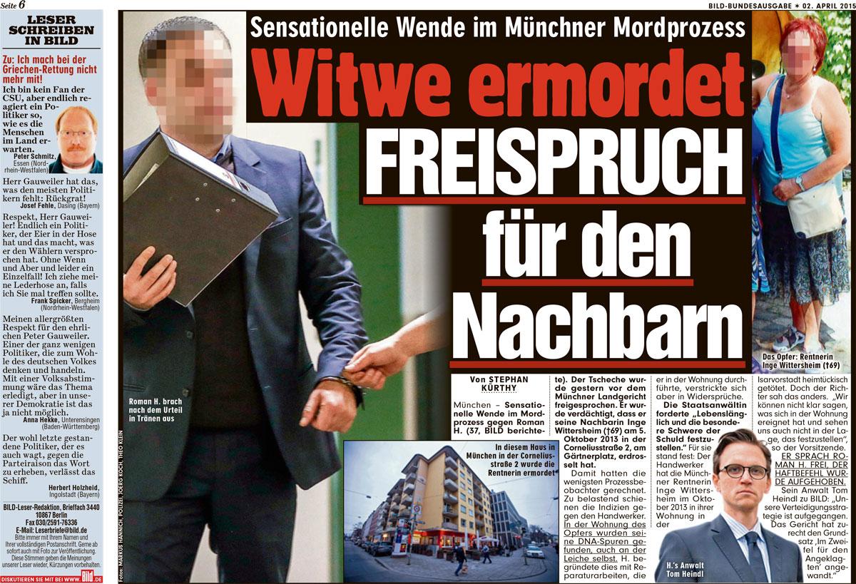 Sensationelle Wende im Münchnee Mordprozess