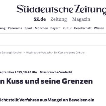 Pressemeldung Süddeutsche Zeitung | Tom Heindl Strafverteidiger München