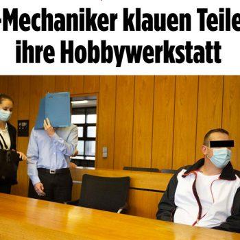Mechaniker klauen Teile | Tom Heindl Strafverteidiger München